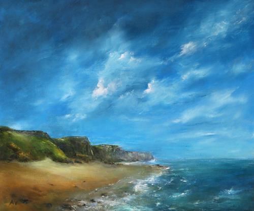Petra Ackermann, Seascape 3, Landschaft: See/Meer, Natur: Gestein, Gegenwartskunst