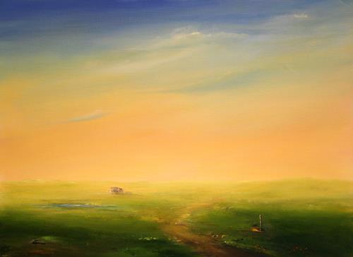 Petra Ackermann, Wide Open Space, Landschaft: Ebene, Natur: Luft, Gegenwartskunst, Expressionismus