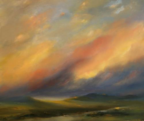Petra Ackermann, Somewhere, Landschaft: Berge, Natur: Erde, Gegenwartskunst