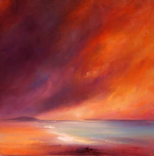Petra Ackermann, Last Light, Landschaft: See/Meer, Natur: Wasser, Gegenwartskunst, Expressionismus