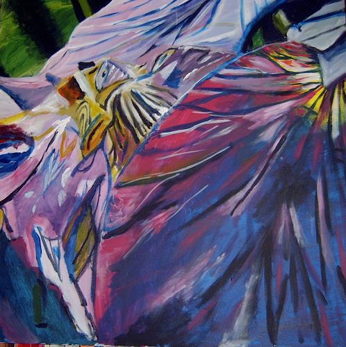 Lukas Stoffel, Engelsstraße, Abstraktes, Abstrakter Expressionismus