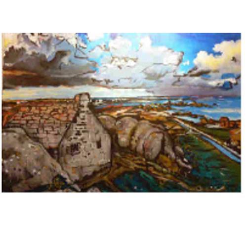 Lukas Stoffel, Le lieu où mes reves se trouvent, Landschaft: See/Meer, expressiver Realismus