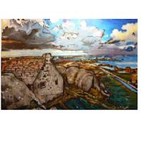 Lukas-Stoffel-1-Landschaft-See-Meer-Moderne-expressiver-Realismus