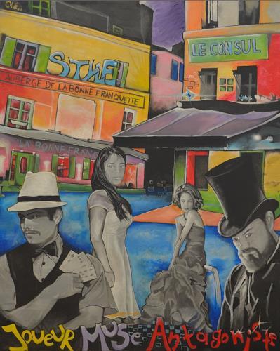 Lukas Stoffel, Les Adversaires - Rue des Saules, Diverse Menschen, Gesellschaft, Jugendstil