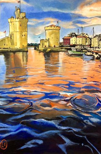 Lukas Stoffel, La Rochelle - Alter Hafen/Vieux Port, Architektur