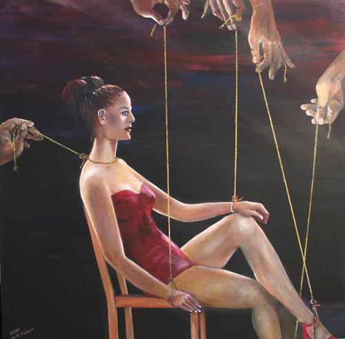 Helga Anders-Faber, die Konsumentin, Fantasie, Gesellschaft, Postsurrealismus, Abstrakter Expressionismus