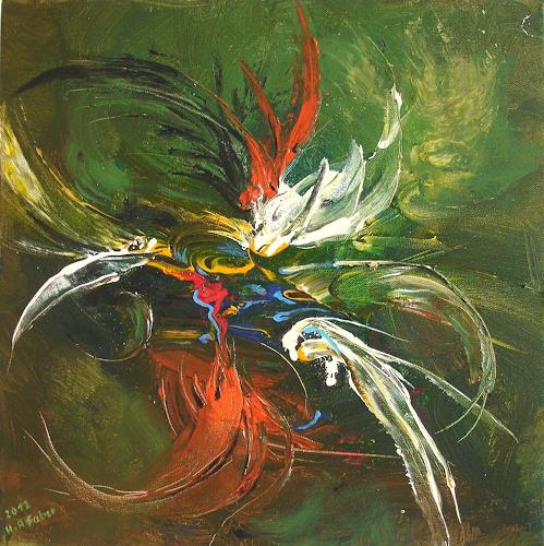 Helga Anders-Faber, freier Flug 4, Abstraktes, Fantasie, Gegenwartskunst