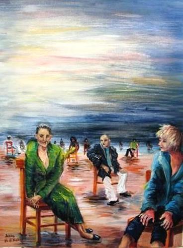 Helga Anders-Faber, Einsamkeit (soledat), Diverse Gefühle, Fantasie, expressiver Realismus, Expressionismus