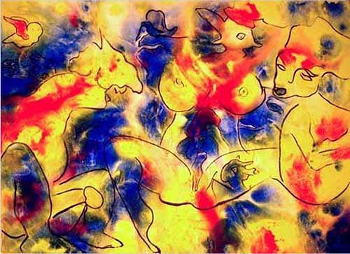 Nikol Heutschi, Porno, Abstraktes, Radikale Malerei, Expressionismus