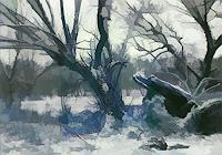 Karl-Heinz-Gewande-Landschaft-Winter-Natur-Wald-Moderne-Moderne