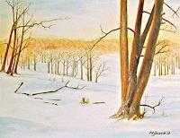 Karl-Heinz-Gewande-Landschaft-Winter-Natur-Wald-Neuzeit-Romantik