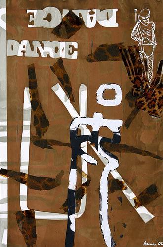 Anna Heickmann, African Dance, Bewegung, Abstraktes, Moderne, Abstrakter Expressionismus