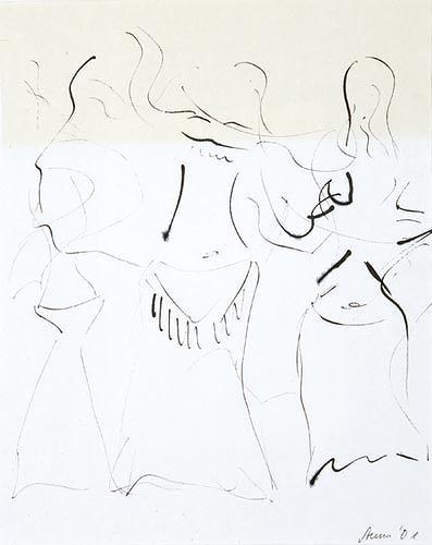 Anna Heickmann, Belly Dance II, Akt/Erotik: Akt Frau, Bewegung, Moderne, Abstrakter Expressionismus
