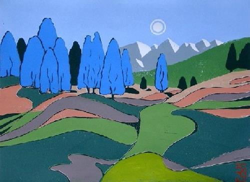 Manfred Riffel, DIE FARBEN TIROLS, Landschaft: Berge, Landschaft: Berge, Naturalismus, Expressionismus