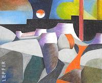 Manfred-Riffel-Landschaft-Berge-Natur-Gestein-Moderne-Impressionismus-Neo-Impressionismus