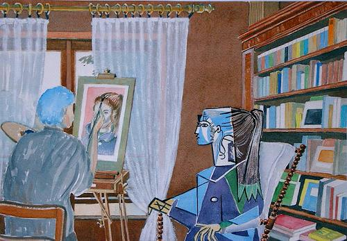 Manfred Riffel, die Rekonstruktion der Sylvette David, Menschen, Gegenwartskunst, Expressionismus
