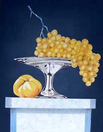 Manfred Riffel, ..mit Trauben, Pflanzen: Früchte, Realismus, Expressionismus