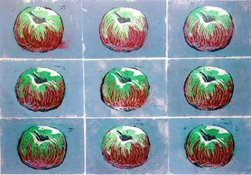 Manfred Riffel, Hommage Warhol, Pflanzen: Früchte, Gegenwartskunst