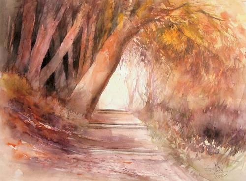 aquafunck, Herbst auf der Mainau, Landschaft: Herbst, Gegenwartskunst, Expressionismus