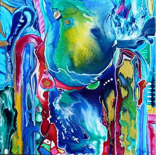 Mariola Wloch, Buntes Experiment, Abstraktes, Abstrakte Kunst, Abstrakter Expressionismus