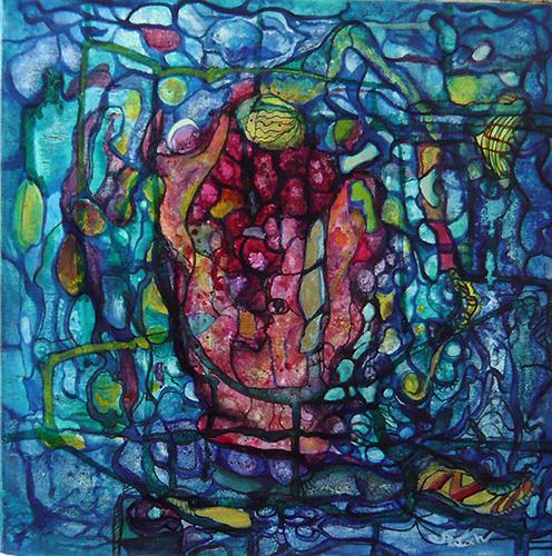 Mariola Wloch, Rätselhaft, Abstraktes, Abstrakte Kunst, Expressionismus