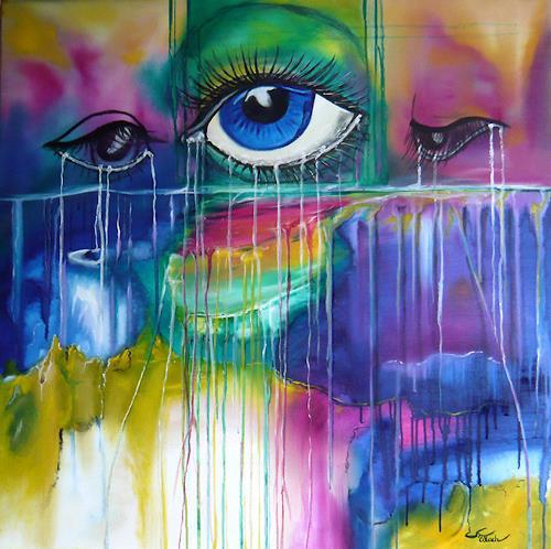 Mariola Wloch, Das Weinen nach Frieden und Freiheit, Gesellschaft, Diverse Gefühle, Abstrakte Kunst, Expressionismus
