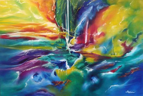 Mariola Wloch, Erstürmung, Abstraktes, Abstrakte Kunst