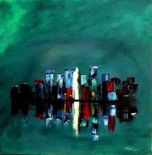 Mariola Wloch, Kanton am Wasser, Landschaft, Gegenwartskunst