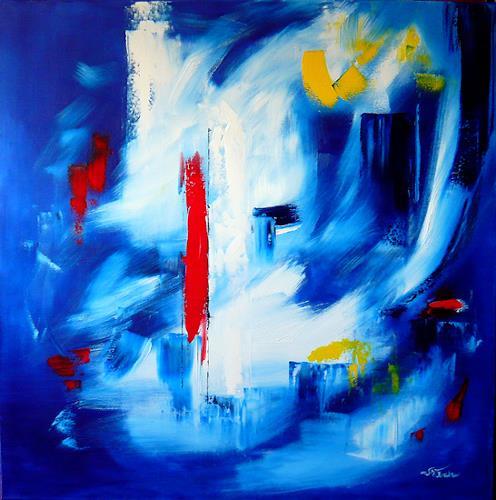 Mariola Wloch, Nächtlicher Spaziergang, Abstraktes, Diverse Romantik, Abstrakte Kunst