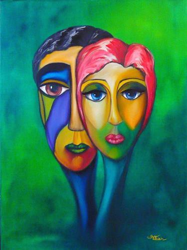 Mariola Wloch, Unbekannte Besucher 1, Menschen: Paare, Menschen: Gesichter, Moderne