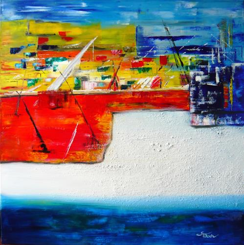 Mariola Wloch, Hamburger Hafen, Abstraktes, Industrie, Abstrakte Kunst, Expressionismus