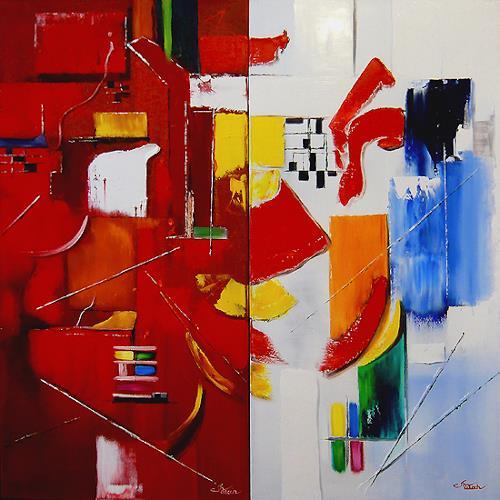 Mariola Wloch, Das Geben und Nehmen, Abstraktes, Abstrakte Kunst