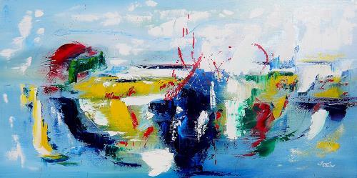 Mariola Wloch, Manchmal weiß ich nicht..., Diverse Gefühle, Gesellschaft, Abstrakte Kunst