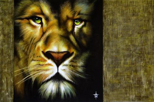 Andreas Baumann, Lion, Tiere: Land, Realismus, Expressionismus