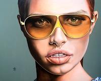 A. Baumann, Junge Frau mit Brille von...