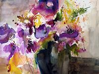 K. Sigwart, Anemone in dunkler Vase