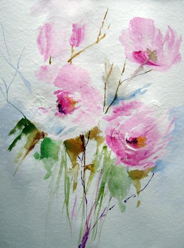 Kerstin Sigwart, Rosensommer, Pflanzen: Blumen, Gegenwartskunst