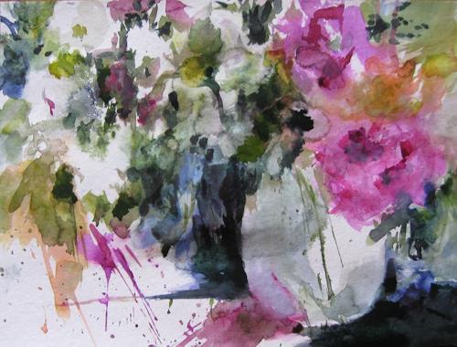 Kerstin Sigwart, Letzter Sommer, Pflanzen: Blumen, Gegenwartskunst, Expressionismus