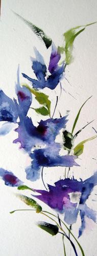 Kerstin Sigwart, Blauzeit im Garten, Pflanzen: Blumen, Gegenwartskunst