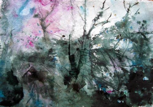 Kerstin Sigwart, im Verborgenen, Landschaft, Gegenwartskunst, Abstrakter Expressionismus
