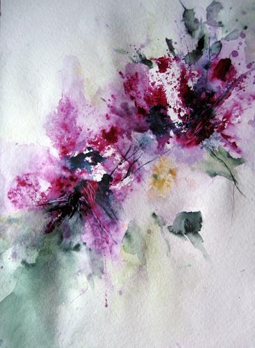 Kerstin Sigwart, wegweisend, Pflanzen: Blumen, Gegenwartskunst, Expressionismus