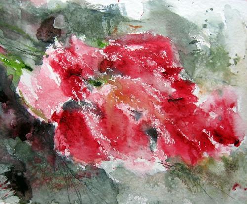 Kerstin Sigwart, gefrorener Frühling, Pflanzen: Blumen, Gegenwartskunst