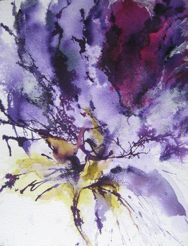 Kerstin Sigwart, Violett, Pflanzen: Blumen, Gegenwartskunst