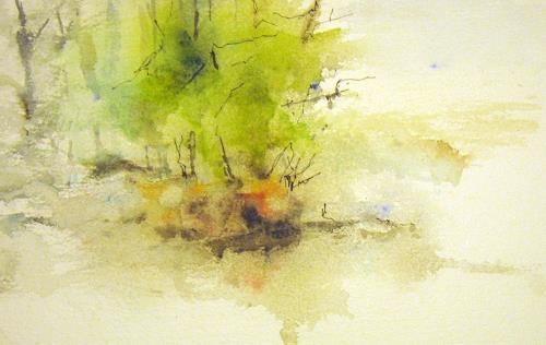 Kerstin Sigwart, im Frühlingswald, Landschaft, Gegenwartskunst, Expressionismus