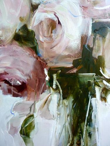 Kerstin Sigwart, Rosen, Pflanzen: Blumen, Gegenwartskunst, Expressionismus