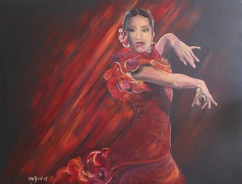 Amigold, Carmen Flamenco II, Bewegung, Abstrakte Kunst