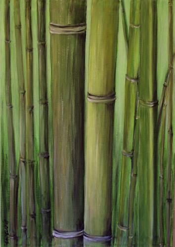 Amigold, Bamboo I, Diverse Pflanzen, Abstrakte Kunst