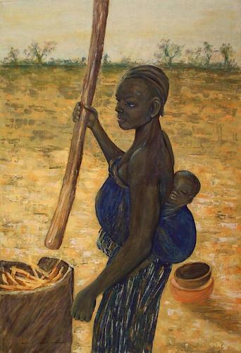 Amigold, Bei der Arbeit, Menschen: Frau