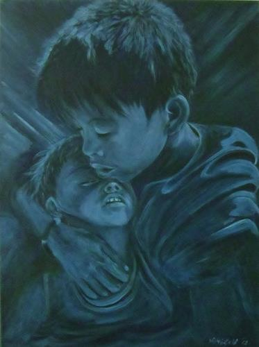 Amigold, Bernard and Dali - Brotherlove, Menschen: Kinder, Abstrakter Expressionismus