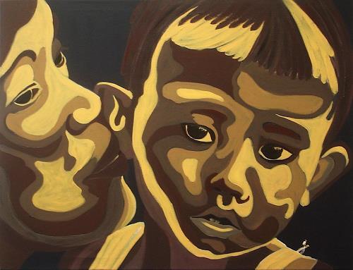 Amigold, Mama beruhigt ihr Kind, Menschen: Porträt